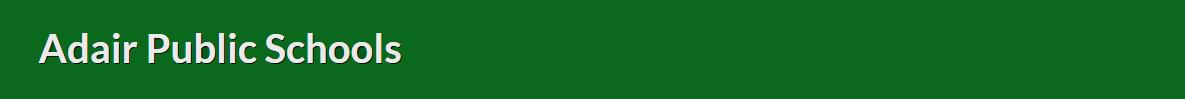 Adair Public Schools logo
