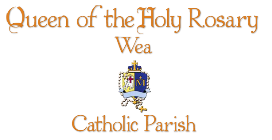 Queen of the Holy Rosary Wea logo