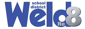 Weld Re-8 School District logo
